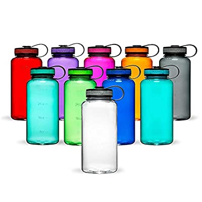 Maars Tritan Wide Mouth 34 oz. BPA-Free Sports Water Bottle | 4 Pack - Purple