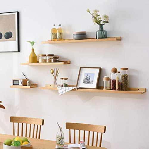 Wandplank, drijvende planken, houten fotolijsten, rustieke drijvende planken voor foto's, decoraties, rustiek bruin