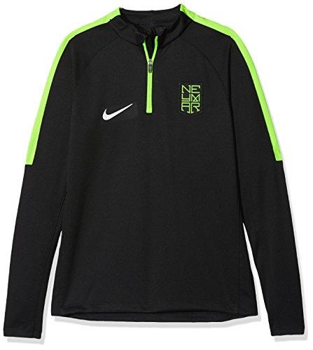 Nike 884850-010, Sudadera Infantil, Negro (Black / Electric Green / Metallic Silver), XS