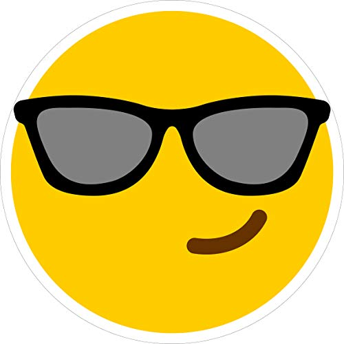 Tortenaufleger Smiley mit Sonnenbrille // Smiley Tortendekoration