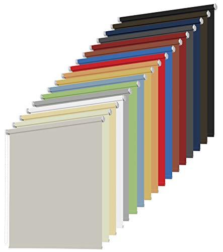 Kettenzugrollo Seitenzugrollo Fenster Tür Rollo Breite 60 bis 240 cm Länge 175 und 230 cm Stoff Vorhang Sichtschutz Sonnenschutz blickdicht lichtdurchlässig 16 Farben Blendschutz (80 x 230 cm)