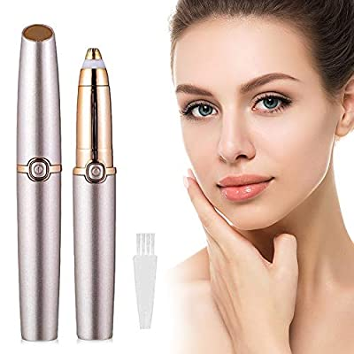 Victoper Eyebrow Trimmer-USB Rechargeable Eyebrow Shaper,Eyebrow Epilator Pen and Painless Multifunctional Hair Remover for Women,Washable Eye Brow Razer (Rose Gold)