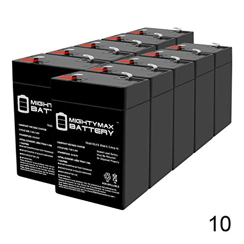 Mighty Max Battery Exit Sign Battery 6V 4.5Ah Backup - 10 Pack Brand Product