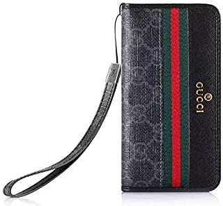 Galaxy Note 9 Flip Case -Elegant Luxury Leather Wallet Cover FILP Case Wristlet Strap Designed Compatible with Galaxy Note9