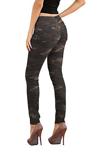 Women's Butt Lift Stretch Denim Jeans P37388SK Camouflage 3