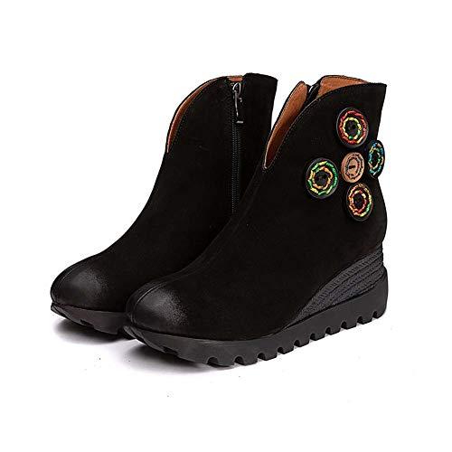 Dames Schoenen Laarzen Lage Wiggen Enkellaarzen 37 B