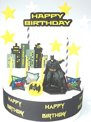Juego de decoración para tarta de cumpleaños de Batman