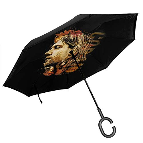 Read About Kevlin Shop Nirvana Double Layer Inverted Umbrella Stick Umbrellas with C-Shaped Handle A...