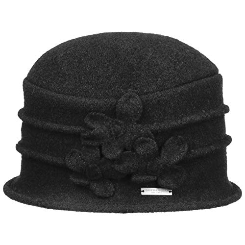 Seeberger Simivisonna Toque Walkmütze Filzhut (One Size - schwarz)