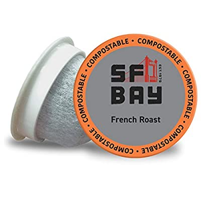 SF Bay Coffee OneCUP French Roast 120 Ct Dark Roast Compostable Coffee Pods, K Cup Compatible including Keurig 2.0 (Packaging May Vary)