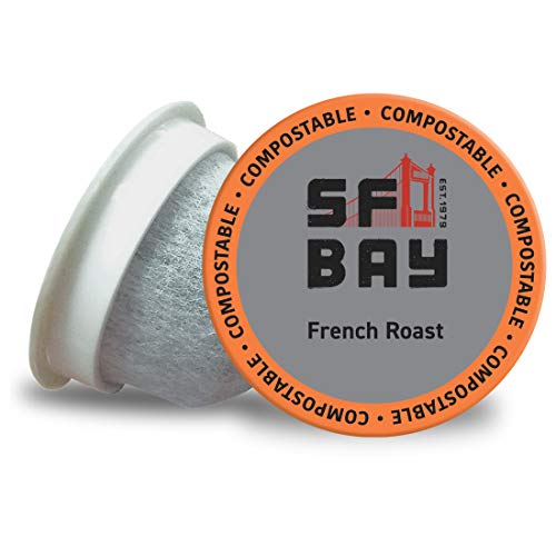 SF Bay Coffee French Roast 120 Ct Dark Roast Compostable Coffee Pods, K Cup Compatible including Keurig 2.0 (Packaging May Vary)