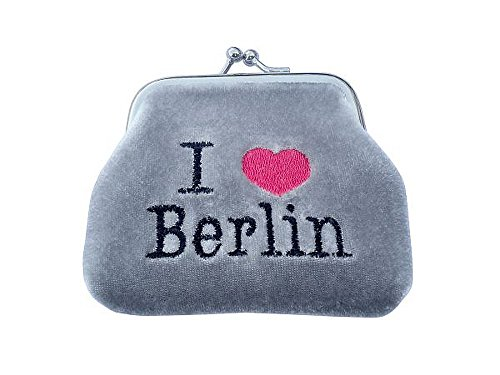 City Souvenir Shop Geldbörse I love Berlin, grau