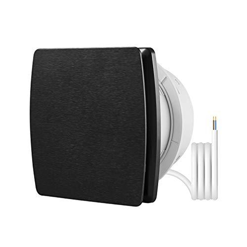 HG Power - Ventilador en línea, 100 mm de diámetro, ultrasilencioso, con eficiente ventilación, ventilador de pared para cocina, baño, dormitorio, oficina (A-100 mm), color negro