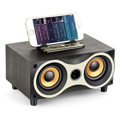 TAMPROAD Desktop Wooden Wireless Bluetooth Portable Speaker with HD Sound...