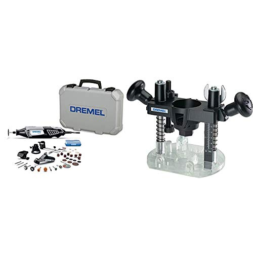 Dremel 4000-4/34 Variable Speed Rotary Tool Kit & 335-01 Rotary Tool Plunge Router Attachment – Perfect for Wood