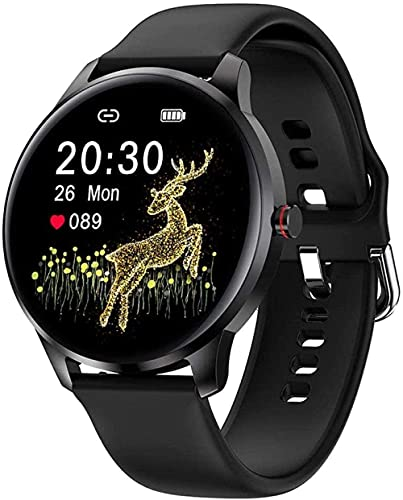 Reloj Inteligente de los Hombres IP68 Impermeable Pulsera Inteligente Deportes Reloj 10 Modo Deportivo Reloj Fitness Tracker Reloj-Negro