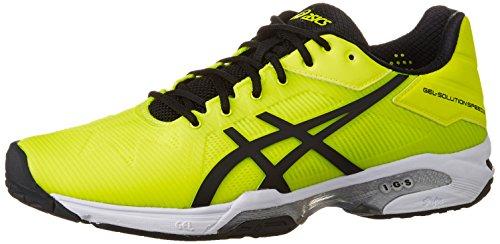 『[アシックス] テニスシューズ GEL-SOLUTION SPEED 3 OC (旧モデル) メンズ フラッシュイエロー/ブラック 26.5』のトップ画像