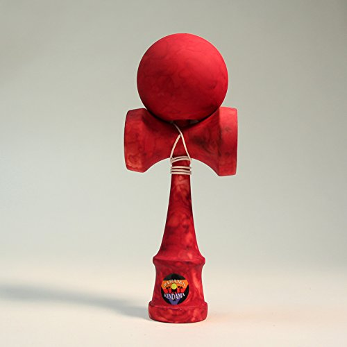 Bahama Kendama Tide kendama - Vibrant colored and Rubber paint - Red