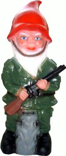 Nain de Jardin Nain Soldat, Plastique, 50 cm
