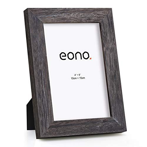 Eono by Amazon - Marco de Fotos de Madera Maciza y Cristal de Alta Definición para Pared o Sobremesa 10x15 cm Acabado Madera a la Deriva