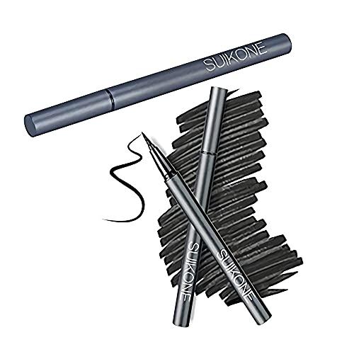 OFKPO wasserdichte Quick Dry Eyeliner,Dauerhafte Liquid Schwarz Eyeliner Stift,Geeignet für Augen Make up