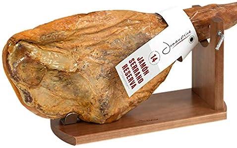 Jamonprive Soporte Jamonero Banqueta M - Jamonera Ideal para el Jamón Serrano e Ibérico y el Prosciutto Italiano (no Incluye Cuchillo)