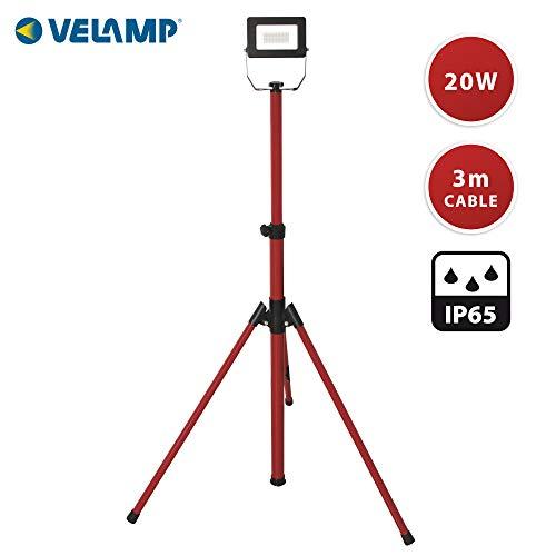 Velamp IS749-2 proyector LED en trípode, 1600lm 20W, Rojo,