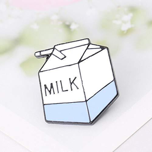 WEHONG Cartoon Toast Brot Milch Omelett Ei Broschen Abzeichen Denim Shirt Mantel Anstecknadeln Geschenke Emaille Pin China Milchkarton