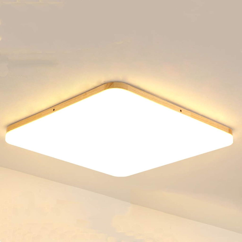 Xihongshi Schlafzimmer-Lampen-Quadrat-einfache Moderne Feste Holz-Wohnzimmer-Studien-Balkon-Beleuchtung, geführte Deckenleuchte warm Light