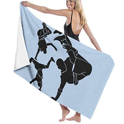 LREFON Toallas de baño Breakdance Toalla de Ducha de Secado rápido a la Moda Toalla de natación de Playa Suave con Personalidad (31.5X51.2 Pulgadas)