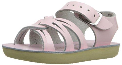 Salt Water Sandals Sun-San Strap Wee, Sandale Plate bébé Fille, Rose Brillant, 18.5 EU
