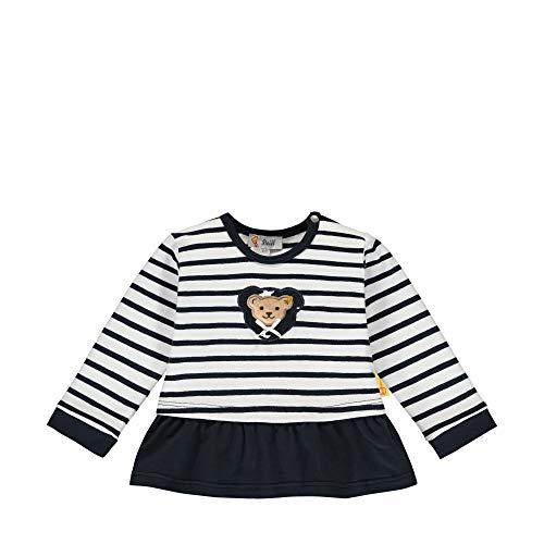 Steiff Baby-Mädchen mit süßer Teddybärapplikation Sweatshirt, Navy, 056