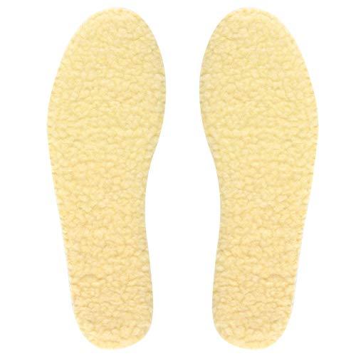 Knixmax Lammfellsohlen Einlegesohlen Warme Lammwoll Einlagen Winter Sohlen Schuheinlagen Weich Atmungsaktiv Bequem für Erwachsene und Kinder Gr.28 EU
