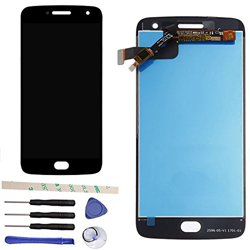 General 100% Tested LCD Display Touch Screen Digitizer Assembly Replacement for Moto G5 Plus XT1684 XT1685 XT1687 5.2' (Black)