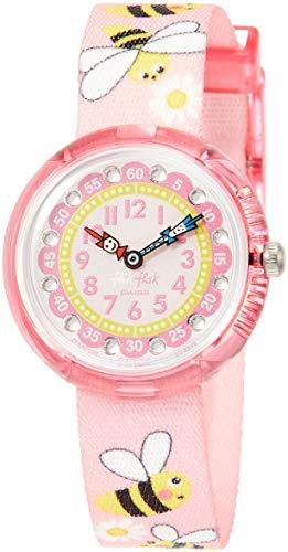 Flik Flak Mädchen Analog Quarz Uhr mit Stoff Armband FBNP098