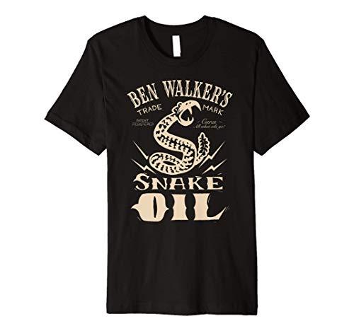 Snake Oil Old Fashion Medicine Label with Rattlesnake Premium T-Shirt