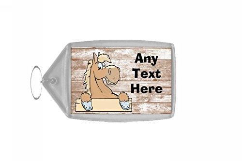 Palomino Paard Shabby Gepersonaliseerde Sleutelhanger