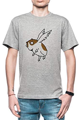 Rundi Volador Guinea Cerdo Hombre Camiseta Gris Todos Los Tamaños - Men's T-Shirt Grey