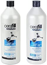 Bundle of Two Items: Redken Cerafill Retaliate Stimulating Shampoo and Conditioner Duo for Thinning Hair (1 Liter Each) by Cerafill