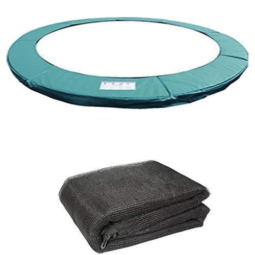 Greenbay Accessoires Trampoline pour Trampoline 244cm(8FT)   Coussin de Protection Coussin de Ressorts et Le Filet de Sécurité
