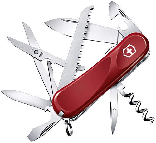 Victorinox Taschenmesser Evolution 17 (15 Funktionen, Ergonomisch, Feststellklinge, Holzsäge) rot