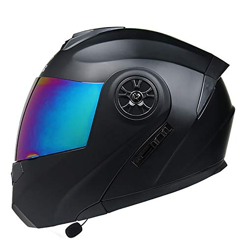 Hammock Casco Moto Modular,Bluetooth Incorporado Casco Moto Modular ECE Homologado,Casco Moto Abatible con Doble Visera para Bicicleta Scooter Cascos de Moto para Adultos Unisexo G,XL=61~62cm