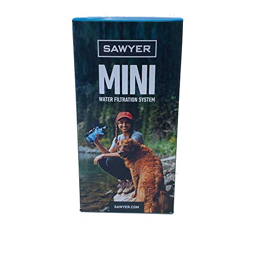Sawyer Mini PointONE Wasserfilter für Outdoor Camping Wasseraufbereitung (SP128 Blau)