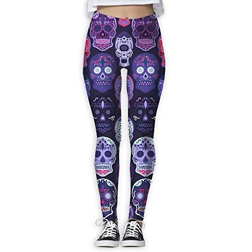 Irener Yoga-Hosen-Sport-Trainingsgamaschen Halloween Face Provide Women with High-Waisted, Ultraweiche leichte Gym Yoga Leggings