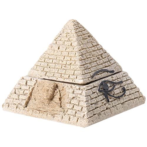 Healifty Caixa Do Trinket De Jóias Estatueta Pirâmide Egípcia Antiga Resina Arenito Caixa Decorativa Accent Estátua Monumento de Deuses Do Egito Pirâmides Maravilha