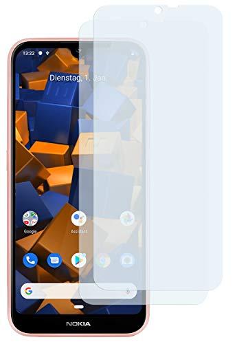 mumbi Schutzfolie kompatibel mit Nokia 4.2 Folie klar, Bildschirmschutzfolie (2X)