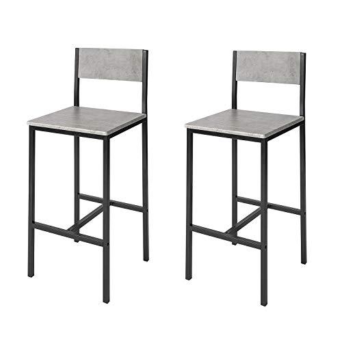 SoBuy Set 2 sedie Bar Mobile Bar per casa Altezza 67 cm (FST53-HGX2)