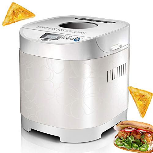 Lowest Price! HFSKJWI Automatic Bread Maker,19 Settings Breadmakers Can Reserve Power-Off Memory Manual Dough Kneading Digital Bread Maker LCD Screen Automatic Dough Kneading Machine