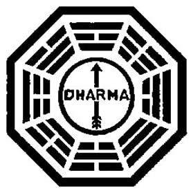 Autoaufkleber, Aufkleber 15CM * 15CM Lost Dharma Initiative Personality Vinylauto-Aufkleber Schwarz/Silber Dekoration Aufkleber Autoaufkleber, Aufkleber (Farbe Name: Schwarz) alpqq (Size : Black)