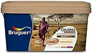 bruguer 60787 Pintura paredes y techos, Kenia marrón intermedio, 4 litros